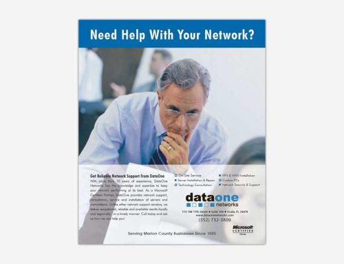 DataOne Networks Print Ad