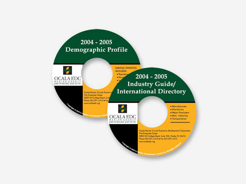 Ocala EDC Printed CD-ROM Labels