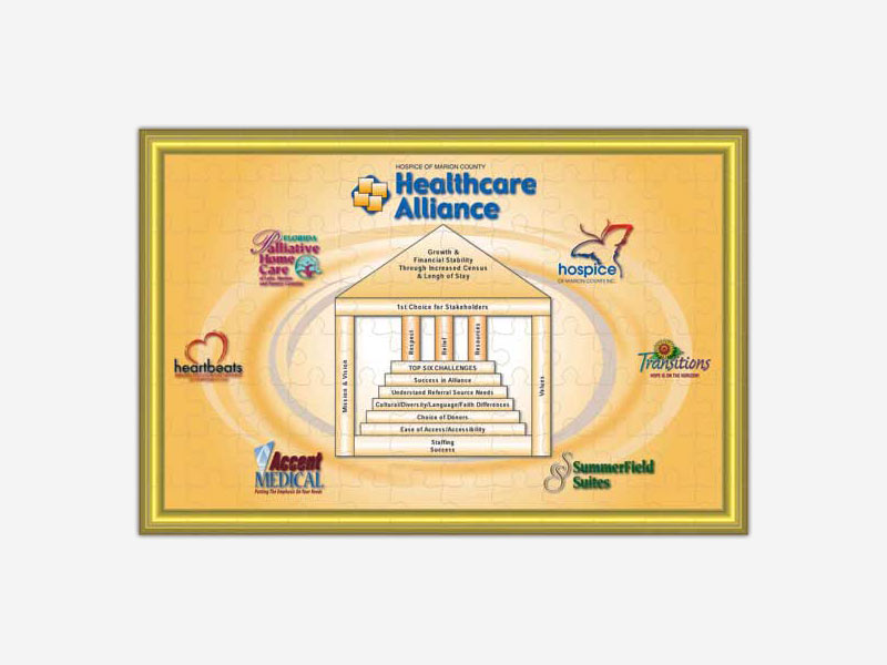 Hospice of Marion County Health Alliance Puzzle Print Poster